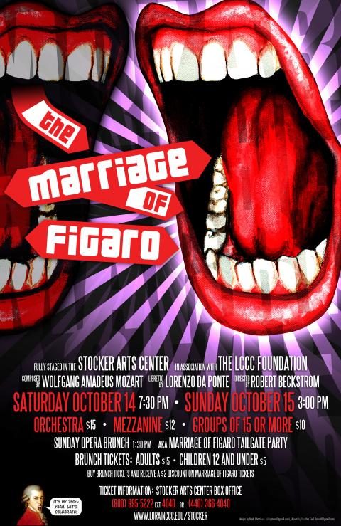 Marriage of FIgaro theatrical poster design